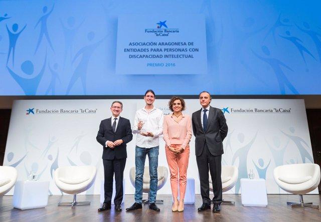 Plena Inclusión Aragón ha recibido uno de los premios de 'la Caixa'