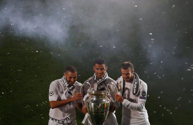 El Real Madrid celebra la undécima Champions en el Bernabéu