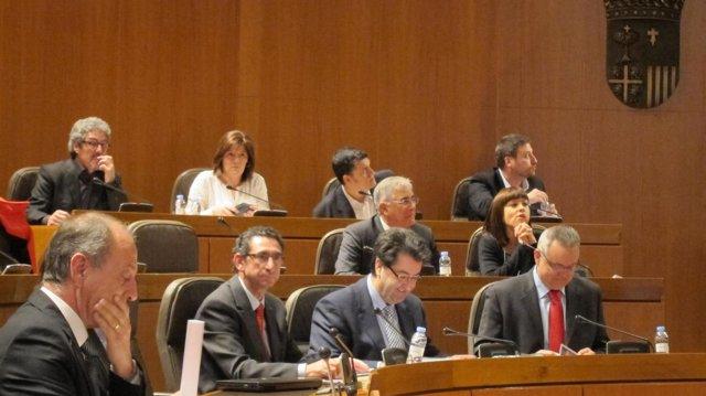 Carmen Martínez Romances (al fondo), nueva diputada de CHA