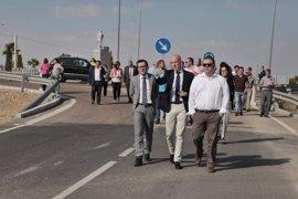 Gallardo inaugura las mejoras de la carretera BA-114 que une Quintana de la Serena con las canteras de granito