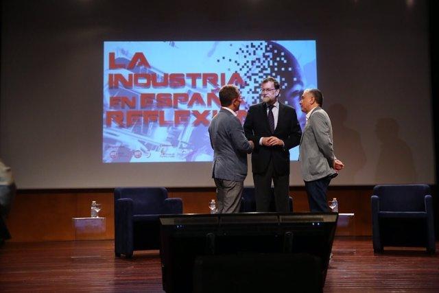 Rajoy clausura un encuentro organizado por UGT en Burgos