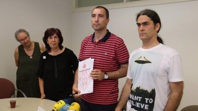 Carlos González y Sergi Talamonte en rueda de prensa