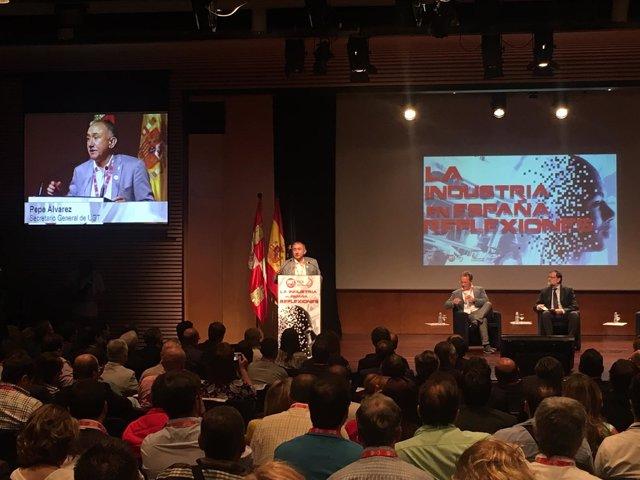 Pepe Álvarez clausura en Burgos la jornada de UGT
