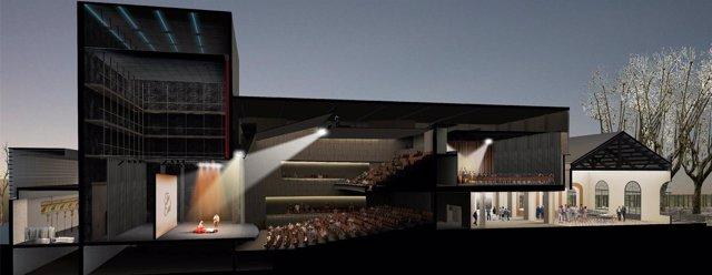Imagen virtual de la propuesta para la construcción del nuevo teatro de L'Artesà