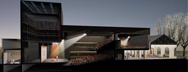 Imatge virtual de la proposta per a la construcció del nou teatre de L'Artesà