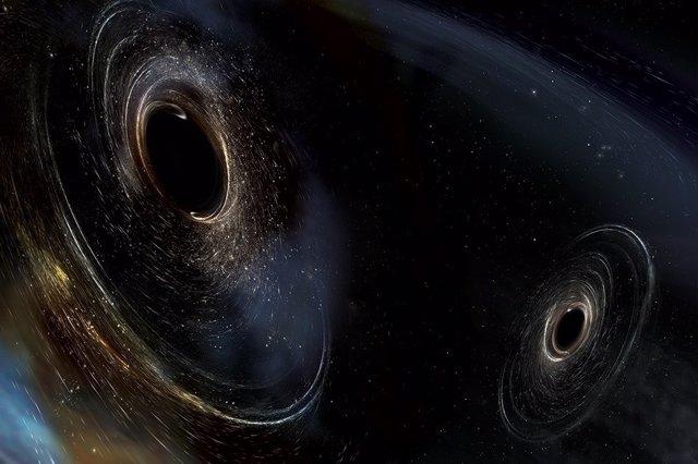 Agujeros negros en fusión