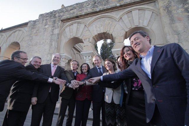Autoridades celebran en Medina Azahara en 2016 que sea la candidata española