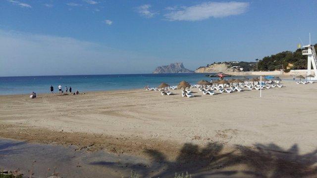 Una de las playas de Teulada-Moraira