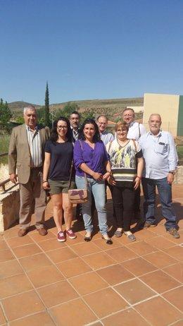 Visita de representantes del Gobierno de Aragón a Estercuel