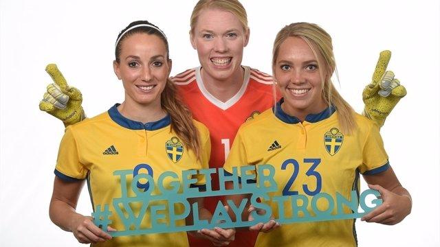 Jugadoras de la selección sueca de fútbol