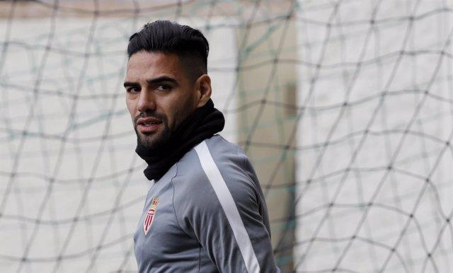 El jugador del Mónaco Radamel Falcao