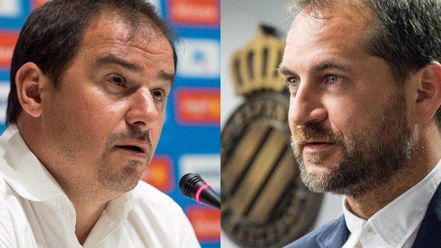 Jordi Lardín y Óscar Perarnau, director deportivo y general del Espanyol