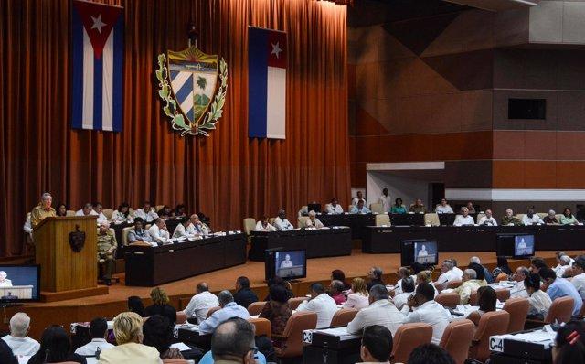 Parlamento de Cuba, presidido por Raúl Castro