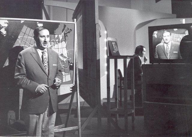 El meteorólogo Fernando Medina, durante su etapa en Televisión Española