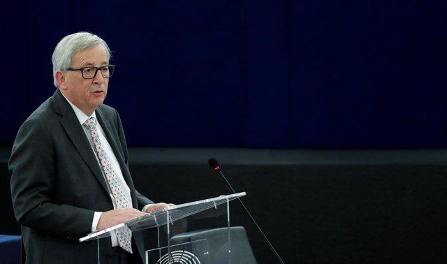 Jean-Claude Juncker en la Eurocámara