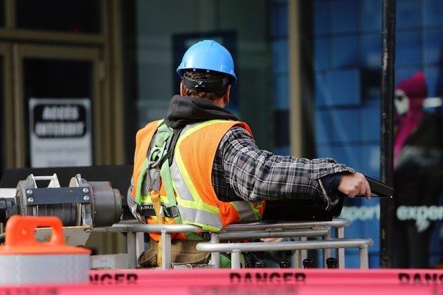 Obrero de la construcción (foto recurso)