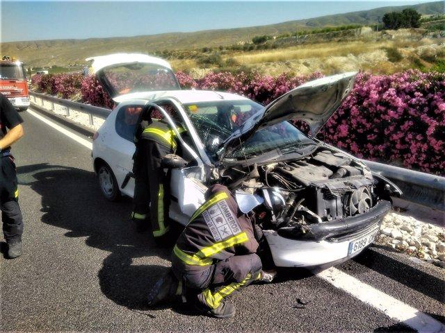 Accidente de tráfico en A-30 a la altura de Cieza