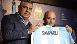 """Sampaoli, sobre Messi: """"Queremos que sea el mejor del mundo y se sienta feliz"""""""