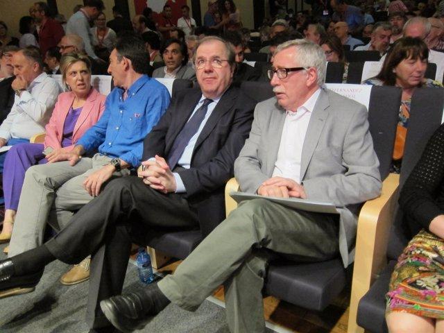 Fernández Toxo junto a Juan Vicente Herrera