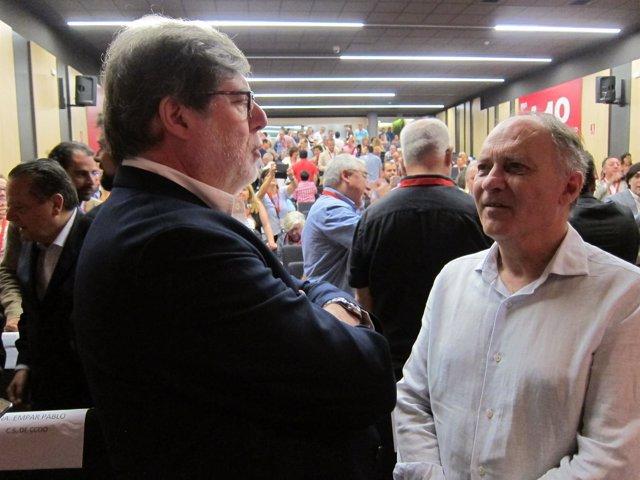 Faustino Temprano charla con Santiago Aparicio