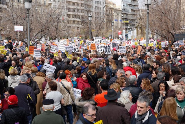 Concentracion por la Sanidad en Granada en marzo