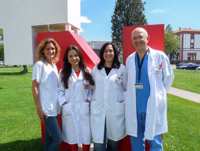 Gurutzi Azcona, Rocío Pabón, Lorea Imirizaldu y Javier Urriza