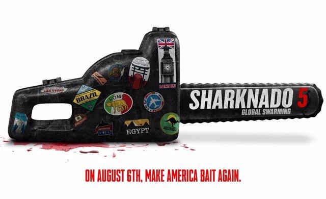 El cartel de Sharknado 5: Global Swarming