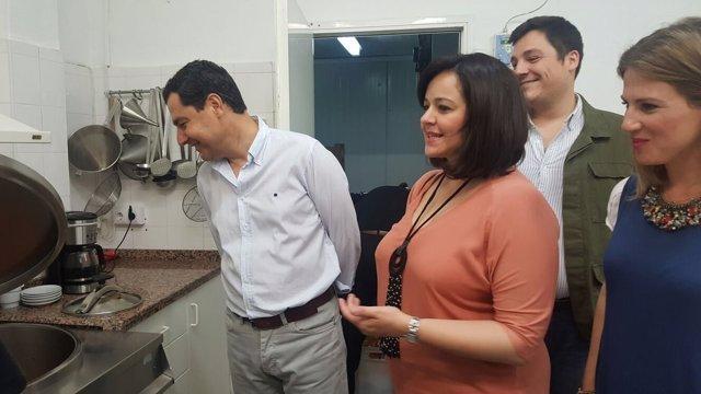 Juanma Moreno, hoy junto a Virginia Pérez y Ana Mestre
