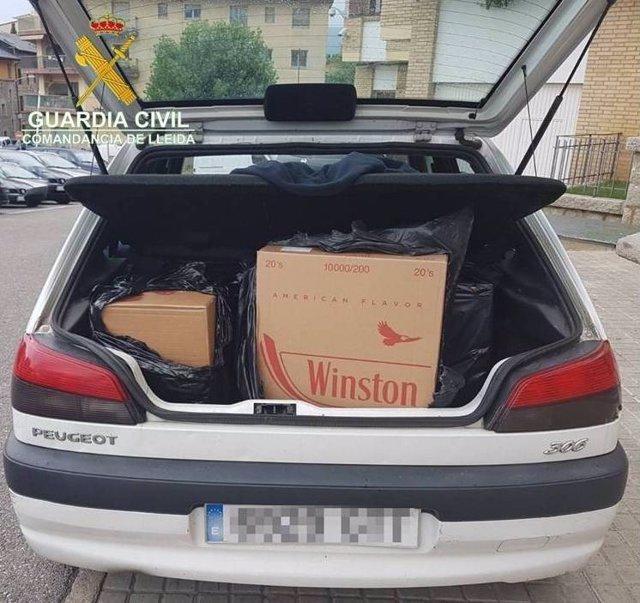 Hallan 1.500 cajetillas de tabaco de contrabando en Les Valls de Valira (Lleida)