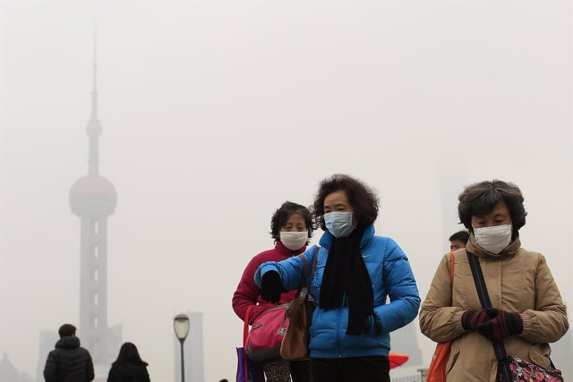 Contaminación en Shangai (China)