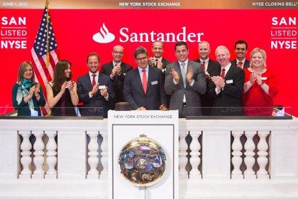 Santander celebra sus treinta años de cotización en la Bolsa de Nueva York