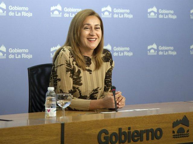 La portavoz del Gobierno riojano, Begoña Martínez Arregui