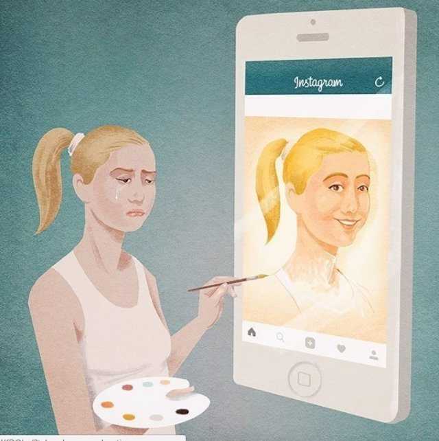 12 honestas ilustraciones sobre la sociedad actual con las