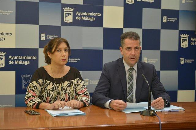 Carlos conde gemma del corral ayuntamiento de málaga portavoz