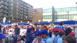 Unos 1.300 alumnos participan en el Mercado de cooperativas escolares de Ibercaja