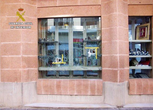 Guardia Civil detiene al presunto autor de siete robos con fuerza en comercios