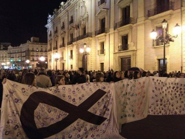 Marcha contra la violencia de género en València