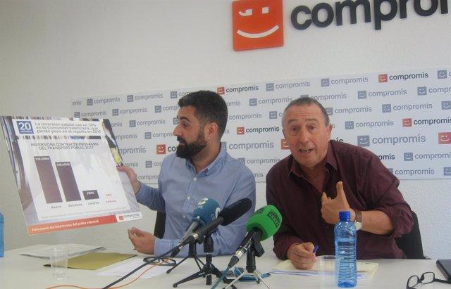 Fuset y Baldoví en la rueda de prensa sobre PGE en València