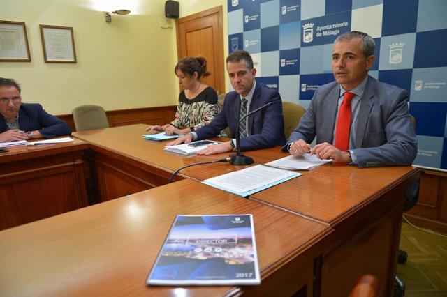 Gemma del Corral, Carlos Conde, Julio Andrade turismo rueda prensa cultura