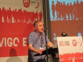 Pepe Álvarez (UGT) advierte de que el descenso del paro sigue vinculado a la estacionalidad y la precariedad