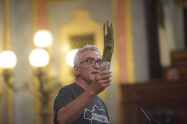 Diego Cañamero, en la tribunal del Congreso