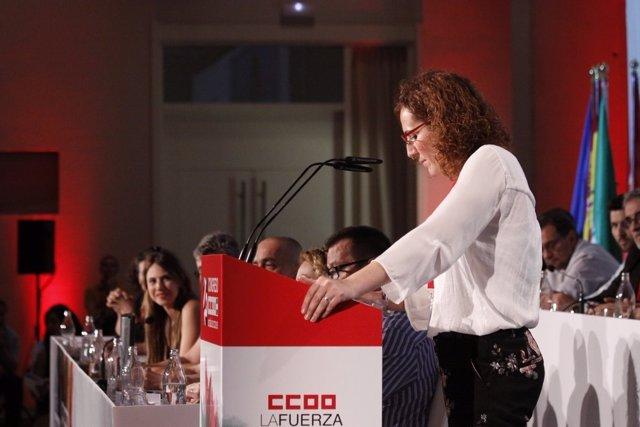 Nuria López interviene ante el Congreso como nueva líder de CCOO Andalucía