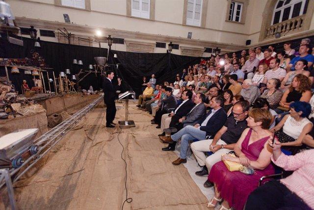 Javier Aureliano García ha inaugurado el aniversario de Axioma Teatro.