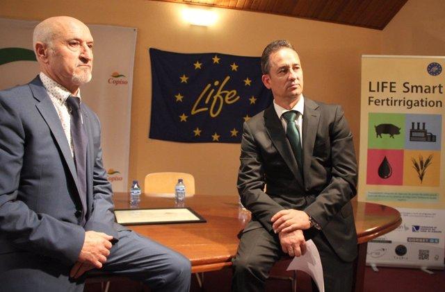 Andrés García (i) y Francisco Javier Blanco