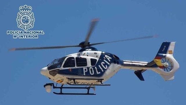 Helicóptero de la Policía Nacional