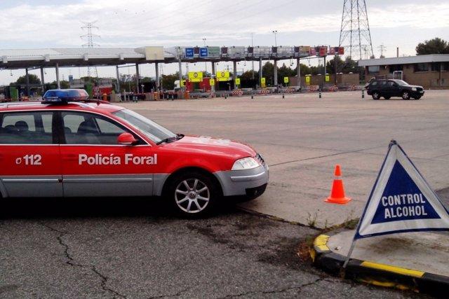 Control de alcoholemia de la Policía Foral