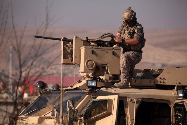Militar estadounidense cerca de Mosul