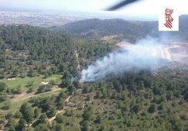 Controlado un incendio forestal declarado en Borriol