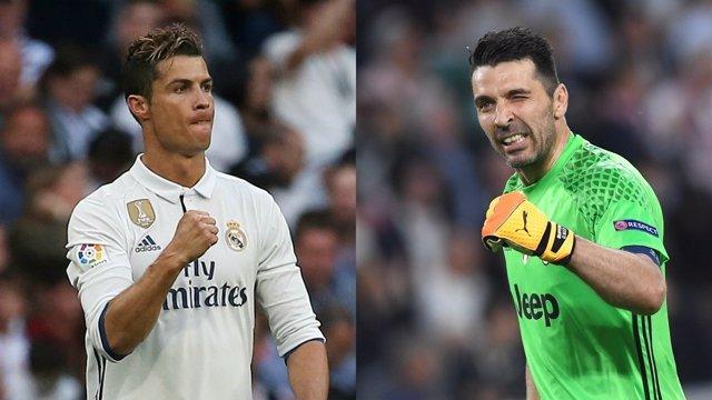 Cristiano Ronaldo y Buffon se retan antes de la final de la Champions
