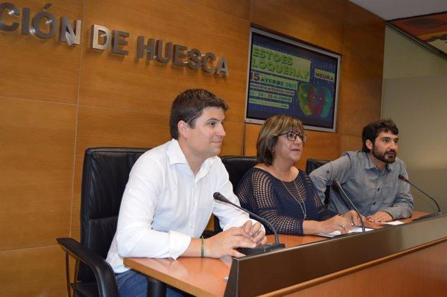 Antonio Biescas, Elisa Sancho y Pablo Pérez